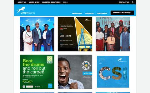 Screenshot of Blog unionbankng.com - Blog - Union Bank - captured Sept. 22, 2018