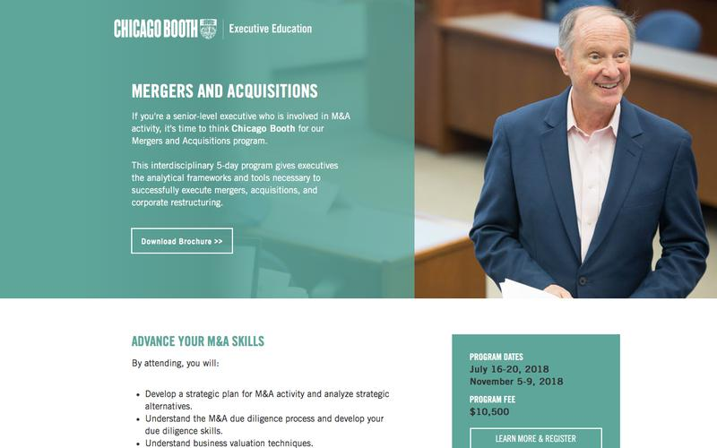 Executive Education at Chicago Booth | Mergers and Acquisitions