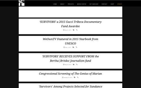 Screenshot of Press Page weowntv.org - Press - captured Dec. 14, 2016