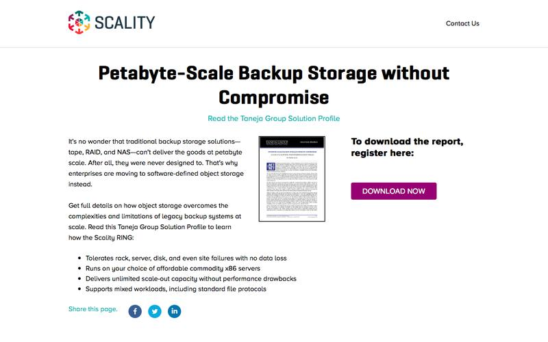 Analyst Report - Petabyte-Scale Backup Storage without Compromise