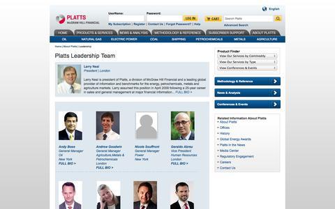 Screenshot of Team Page platts.com - Platts Energy Business Leadership, Editorial - Platts - captured Sept. 19, 2014