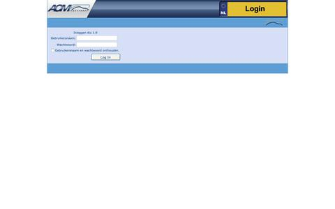 Screenshot of Login Page acmfleetforce.nl - ACM Information System - captured July 28, 2018