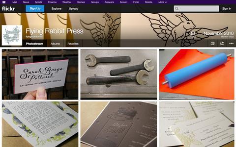Screenshot of Flickr Page flickr.com - Flickr: flyingrabbitpress' Photostream - captured Oct. 23, 2014