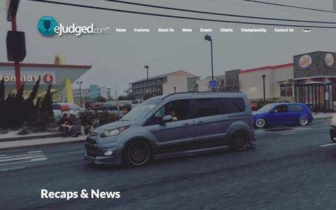 Screenshot of Blog ejudged.com - eJudged  » Recaps & News - captured Dec. 16, 2018