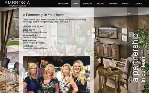 Screenshot of Team Page ambrosiainteriors.com - Team | Ambrosia Interior Design - captured Feb. 6, 2016