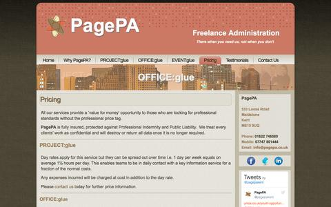 Screenshot of Pricing Page pagepa.co.uk - Pricing - captured Oct. 18, 2016