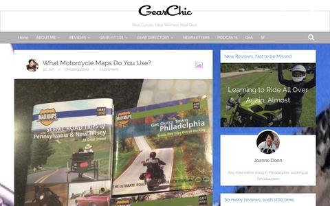 Screenshot of Maps & Directions Page gearchic.com - GearChic, Personal Advice about Motorcycle Gear  –  maps - captured Oct. 2, 2014