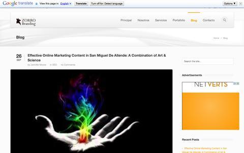 Screenshot of Blog zorrobranding.com - web en buscadores  »  zorrobranding.com - captured Oct. 1, 2014