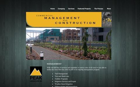Screenshot of Services Page peaklandscape.com - peak-landscape-inc | Services - captured Oct. 28, 2016