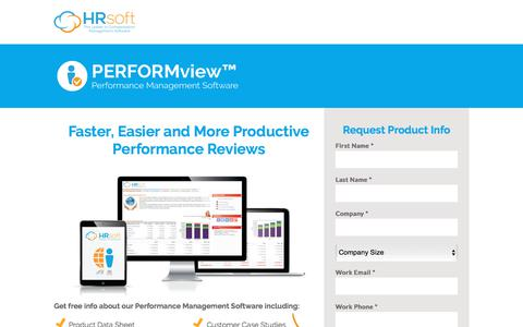 Screenshot of Landing Page hrsoft.com - Performance Management Software by HRsoft - captured Sept. 21, 2018