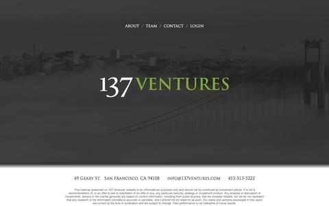 Screenshot of Home Page 137ventures.com - Home - 137 Ventures - captured Nov. 22, 2015