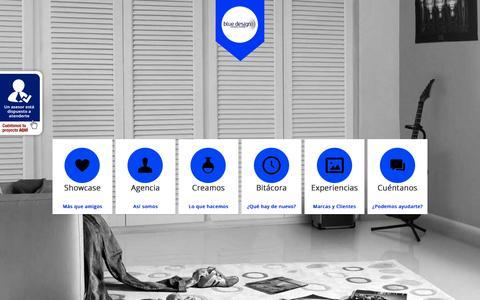 Screenshot of Home Page bluecolombia.co - Diseño Web en Medellín, Colombia | Estrategias Digitales Publicidad Marketing Online Posicionamiento SEO SEM | Central de Medios y Producción Audiovisual | Agencia Blue Design Worldwide Colombia Communications Group | Creación de Páginas Web | Diseño - captured Sept. 10, 2015