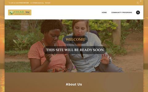Screenshot of Home Page cosad.org - cosad inc - captured Sept. 18, 2015