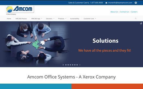 Screenshot of Home Page teamamcom.com - Amcom  Managed Print Services in Coraopolis PA, Pittsburgh Pennsylvania Xerox MFP - captured Nov. 20, 2016