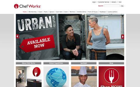 Screenshot of Home Page chefworks.ca - Chef Works Canada - captured Oct. 2, 2014