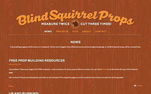 Screenshot of Press Page blindsquirrelprops.com - News — Blind Squirrel Props - captured Oct. 25, 2018