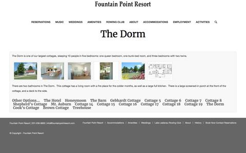 The Dorm – Fountain Point Resort