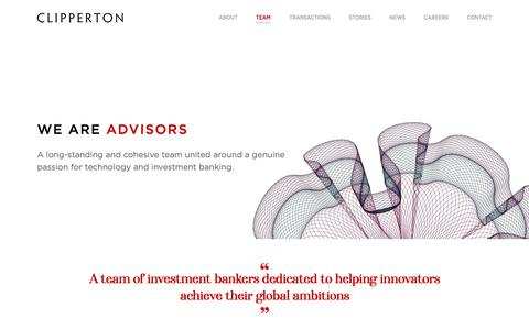 Screenshot of Team Page clipperton.net - Team | Clipperton Finance - captured Jan. 20, 2020