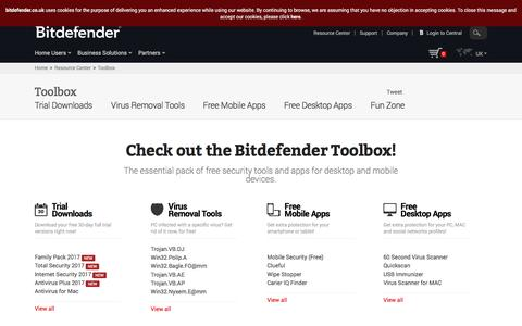 Bitdefender Toolbox - Your Essential Free Antivirus Tools