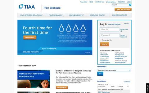 TIAA - Plan Sponsors Homepage