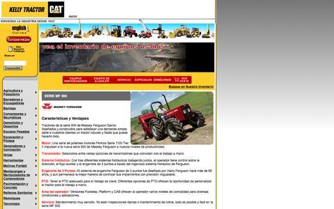 Screenshot of Landing Page kellytractor.com - Kelly Tractor Tractores de Rueda Massey Ferguson MF 500 - captured Aug. 12, 2016