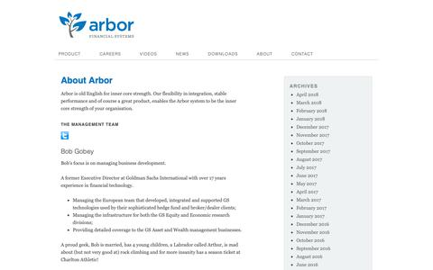 Screenshot of About Page arborfs.com - About - Arbor FS - captured Nov. 12, 2018