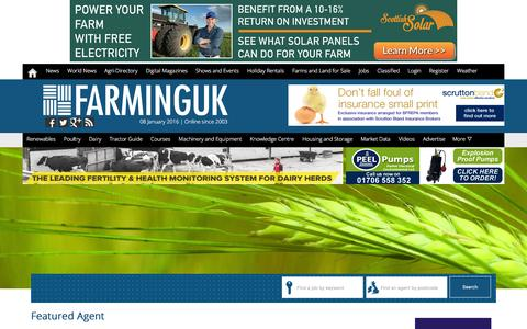 Screenshot of Jobs Page farminguk.com - Farming Job Vacancies in the UK | Agricultural jobs in UK - captured Jan. 8, 2016