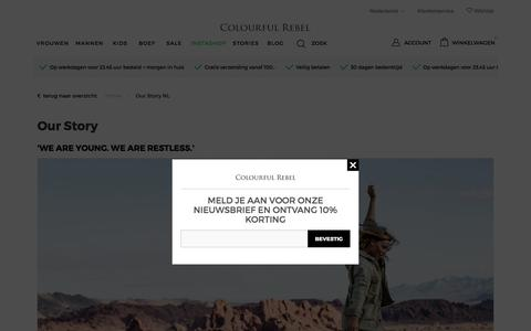 Screenshot of About Page colourfulrebel.com - Our Story NL Colourful Rebel | Official Online Store - captured July 20, 2018
