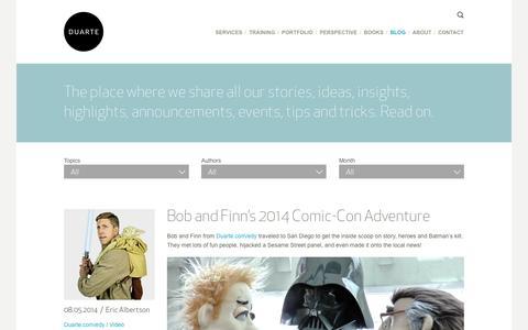 Screenshot of Blog duarte.com - Blog   Duarte - captured Sept. 19, 2014
