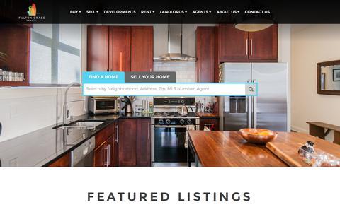 Screenshot of Home Page fultongrace.com - Home - captured April 20, 2018