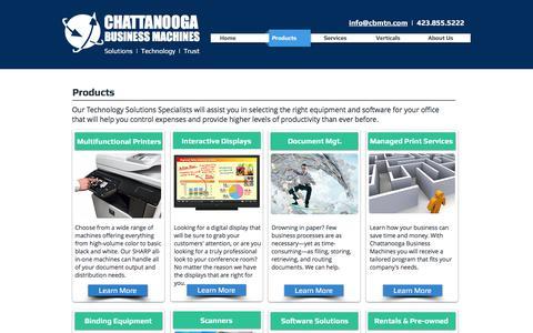 Screenshot of Products Page cbmtn.com - CBM | Sharp, MFP, rentals, scanners, document management, MPS | Chatta - captured Nov. 5, 2016