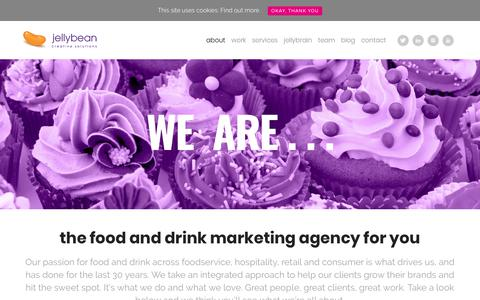 Screenshot of About Page jellybeancreative.co.uk - Food Marketing Agency - About Us - Jellybean Creative Solutions - captured Oct. 16, 2017