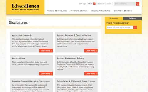 Disclosures | Edward Jones