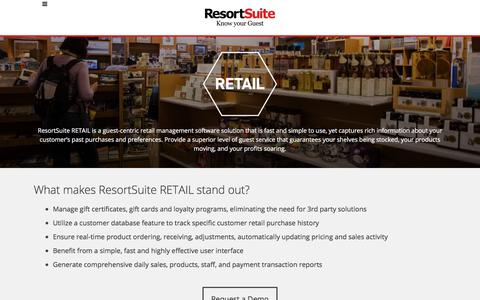 Retail - guest-centric retail management software | ResortSuite