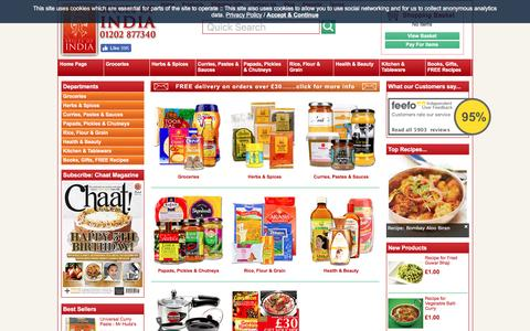 Screenshot of Products Page spicesofindia.co.uk - Indian Food | Buy online - captured Dec. 5, 2016