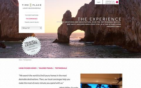 Screenshot of Testimonials Page timeandplace.com - Luxury Concierge Services   Experience the Time & Place Difference - captured Sept. 23, 2014