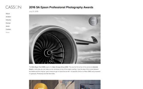 Screenshot of Press Page casson.com.au - News — CASSON - captured Nov. 30, 2016