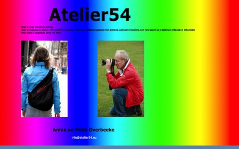 Screenshot of Home Page atelier54.eu - Start - captured Sept. 30, 2014