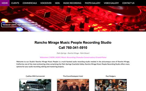 Screenshot of Home Page ranchomiragemusicpeople.com - Rancho Mirage Music People - captured Aug. 6, 2018