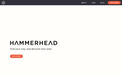 Screenshot of Home Page hammerhead.io - Hammerhead - captured July 11, 2014