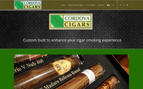 Screenshot of Blog cordovacigars.com - Cordova Cigars |   Blog - captured Oct. 28, 2014