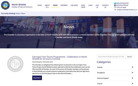 Screenshot of Press Page northshieldschamber.co.uk - News - North Shields Chamber of Trade and Commerce - captured Oct. 22, 2018