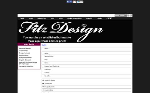Screenshot of Site Map Page Menu Page creationsbyfitzdesign.com - Map - captured Oct. 25, 2014