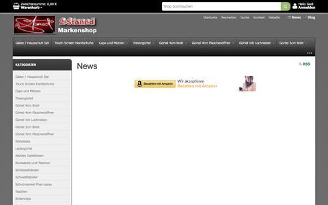 Screenshot of Press Page 2-stonedshop.de - 2-Stoned Markenshop. News-Archiv - captured April 3, 2017