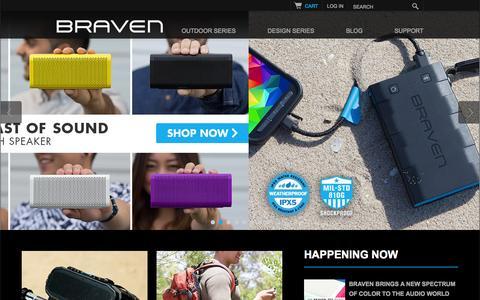 Screenshot of Home Page braven.com - Braven Wireless Bluetooth Speakers - captured Sept. 24, 2014