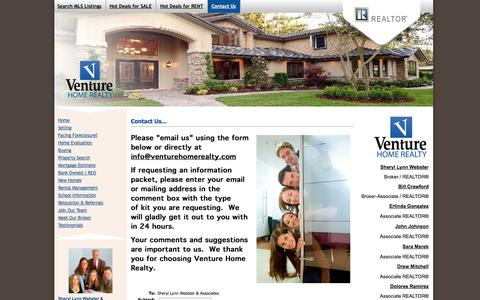Screenshot of Contact Page venturehomerealty.com - Contact Us – Venture Home Realty - captured Oct. 6, 2014