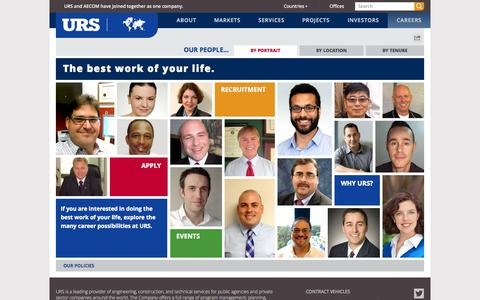 Screenshot of Jobs Page Team Page urs.com - Careers | urs.com - captured Oct. 22, 2014