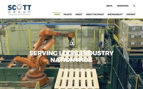 Screenshot of Home Page scottgroupltd.com - Scott Group | Industrial Supplies, Pallets, Packaging - captured March 20, 2017