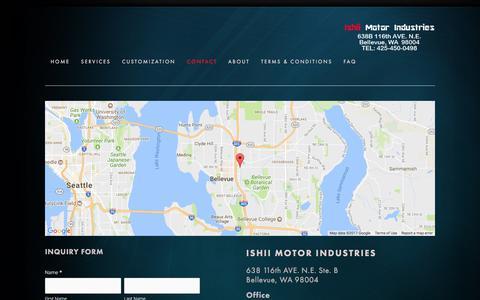 Screenshot of Contact Page 141motors.com - Contact — Ishii Motor Industries - captured Oct. 15, 2017