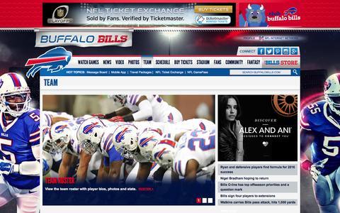 Screenshot of Team Page buffalobills.com - Buffalo Bills Team - captured Jan. 7, 2016